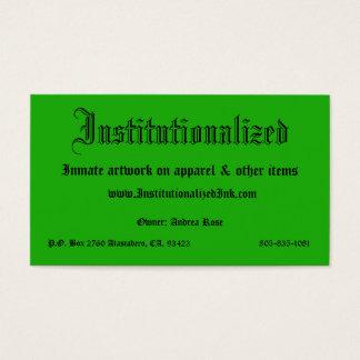 verde, institucionalizado, trabalhos de arte do cartão de visitas