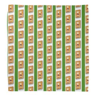 Verde - lenço de pedra celta da lapela do atirador