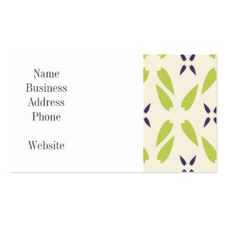Verde limão bonito e papel de parede floral roxo modelo de cartões de visita