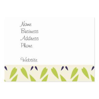 Verde limão bonito e papel de parede floral roxo modelos cartões de visitas