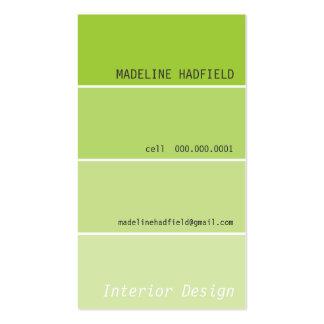 Verde limão da amostra de folha da microplaqueta cartões de visita