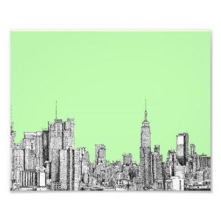 Verde limão de New York Impressão Fotográfica