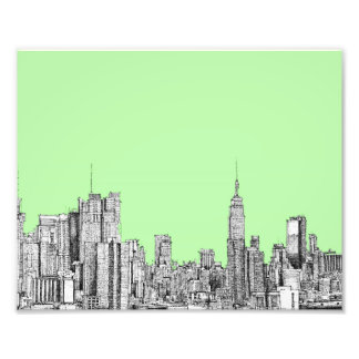 Verde limão de New York Impressão De Foto