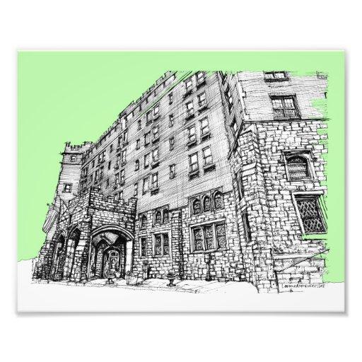Verde limão do hotel de Thayer Impressão De Foto