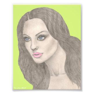 Verde limão do impressão das belas artes do retrat foto arte