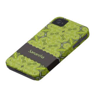 Verde limão elegante iPhone personalizado 4 da Capa Para iPhone 4 Case-Mate