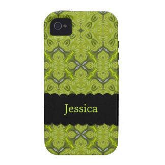 Verde limão elegante iPhone personalizado 4 da cas Capas Para iPhone 4/4S