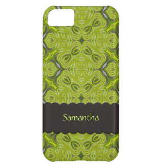 Verde limão elegante iPhone personalizado 5 da Capa Para iPhone 5C