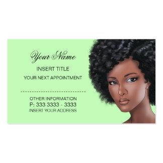 Verde limão pálido - nomeação da beleza cartão de visita