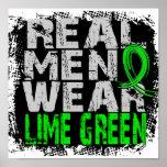 Verde limão real do desgaste de homens do linfoma  pôsteres