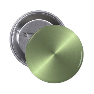 Verde metálico bóton redondo 5.08cm