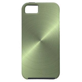 Verde metálico capa tough para iPhone 5