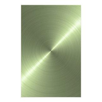 Verde metálico papelaria
