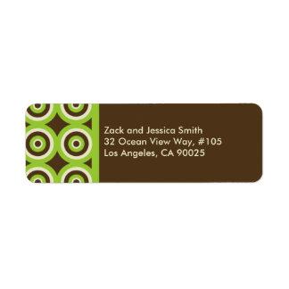 Verde moderno & Brown da etiqueta de endereço do r