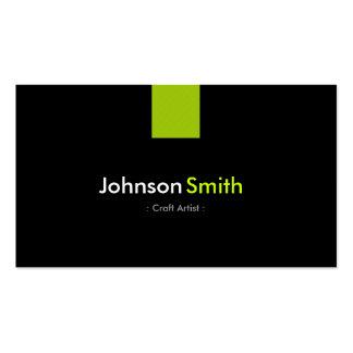 Verde moderno da hortelã do artista do artesanato cartão de visita