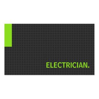 Verde múltiplo da finalidade do eletricista cartão de visita