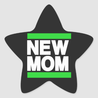 Verde novo da mamã adesito estrela