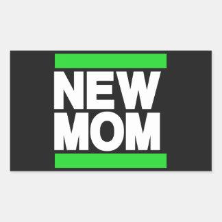 Verde novo da mamã adesivo retangular
