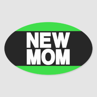 Verde novo do Lg da mamã Adesivo Oval