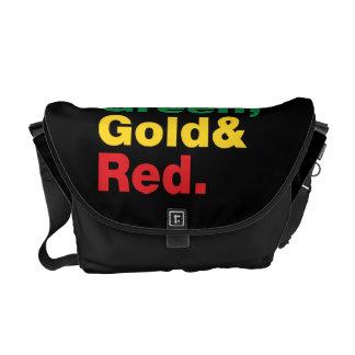 Verde, ouro & vermelho bolsas mensageiro