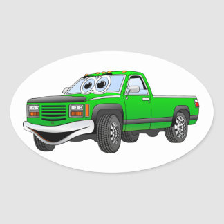 Verde pegare desenhos animados do caminhão adesivos