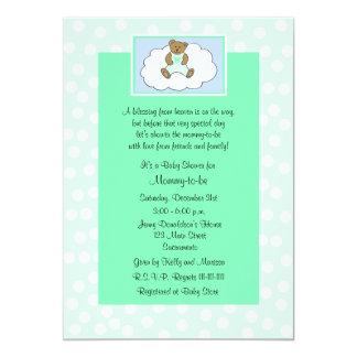 Verde religioso cristão do convite do chá de