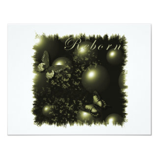 Verde renascido do Natal Convite 10.79 X 13.97cm