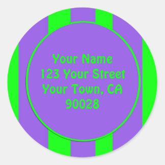 verde roxo listrado adesivo em formato redondo