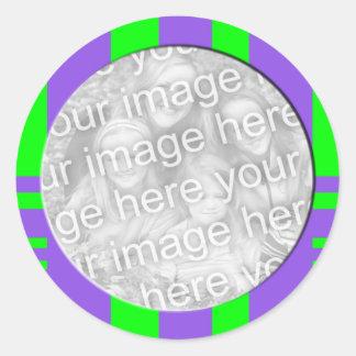 verde roxo quadro stiped da foto adesivos