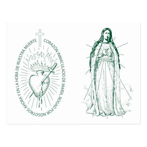 verde Scapular no espanhol 2 Cartões Postais