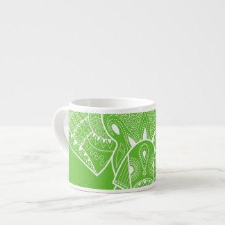 Verde sério do elefante - caneca do café