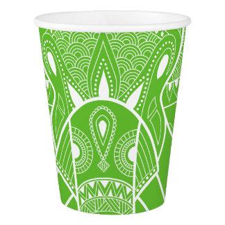 Verde sério do elefante - copo de papel