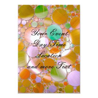 verde sparkling das bolhas convite 8.89 x 12.7cm