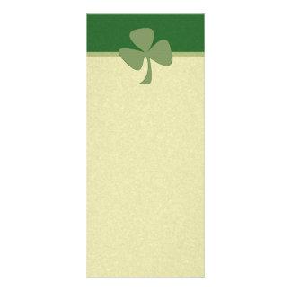 Verde & trevo do ouro 10.16 x 22.86cm panfleto