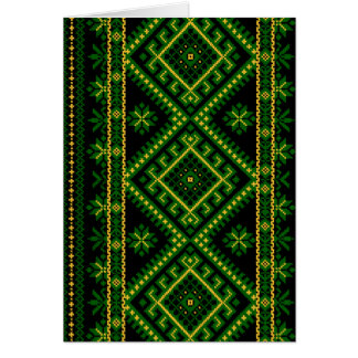 Verde ucraniano do impressão do cartão