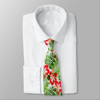 Verde vermelho florescido havaiano do teste padrão gravata