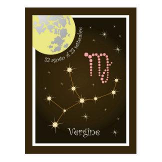 Vergine 23 al 23 cartão postal settembre agosto
