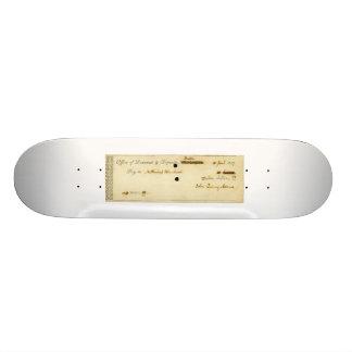 Verificação assinada ORIGINAL de John Quincy Adams Shape De Skate 21,6cm