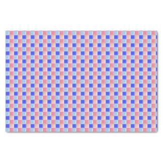 Verificação azul cor-de-rosa do lenço de papel |