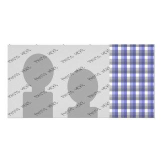 Verificação do guingão Azul cinza branca Molde Cartao Com Foto Personalizado