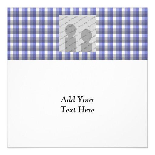Verificação do guingão. Azul, cinza, branca. Molde Convite Personalizado
