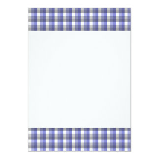 Verificação do guingão. Azul, cinza, branca. Molde Convite 12.7 X 17.78cm