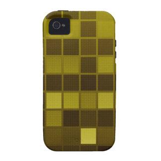 Verificadores de Brown amarelo Capa Para iPhone 4/4S