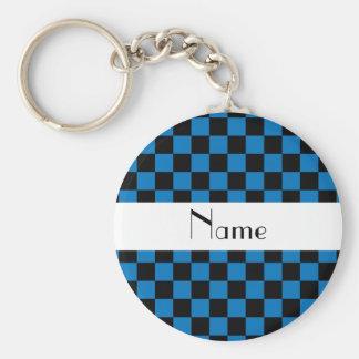 Verificadores pretos e azuis conhecidos personaliz chaveiros