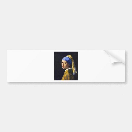 ~ Vermeer do brinco da pérola de w da menina Adesivos