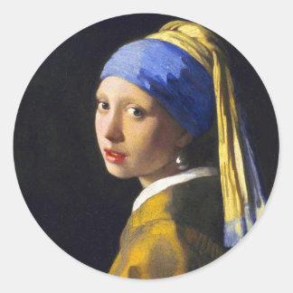 Vermeer do brinco da pérola de w da menina adesivos
