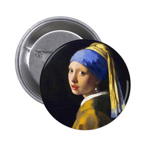 ~ Vermeer do brinco da pérola de w da menina Boton