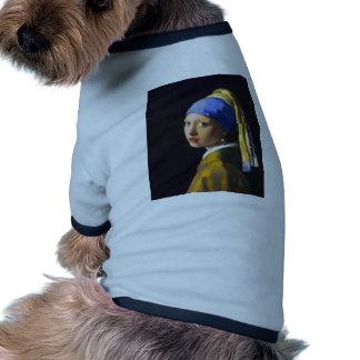 Vermeer do brinco da pérola de w da menina roupa para caes