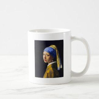 ~ Vermeer do brinco da pérola de w da menina Caneca