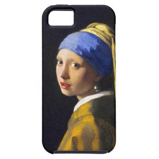 ~ Vermeer do brinco da pérola de w da menina Capa Tough Para iPhone 5